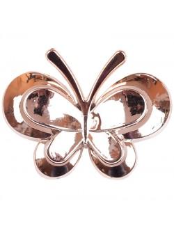 Метална брошка пеперуда