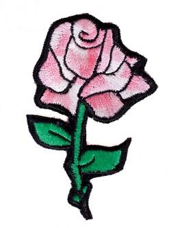 Апликация роза 8 см. - розова