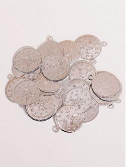 Сребристи парички за пришиване