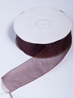 Органза 40 мм. тъмно кафява