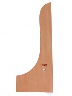 Дървена кривка 30 см.