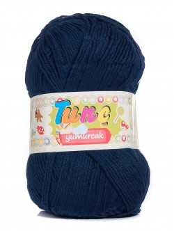 Бебешка прежда Tunc Yumurcak - тъмно синя