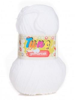 Бебешка прежда Tunc Yumurcak - бяла