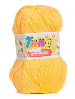 Бебешка прежда Tunc Yumurcak - жълта
