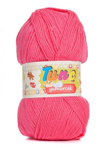 Бебешка прежда Tunc Yumurcak - бонбонено розово