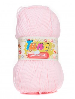 Бебешка прежда Tunc Yumurcak - бледо розова