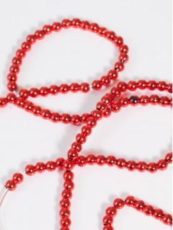 Мъниста на наниз - обли червени