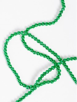 Мъниста на наниз - обли зелени