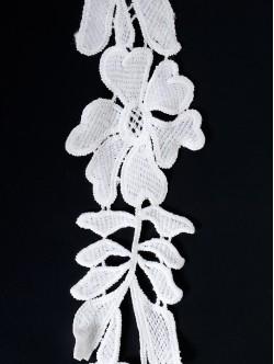 Памучна дантела, цвят Бяла, ширина 4 см.