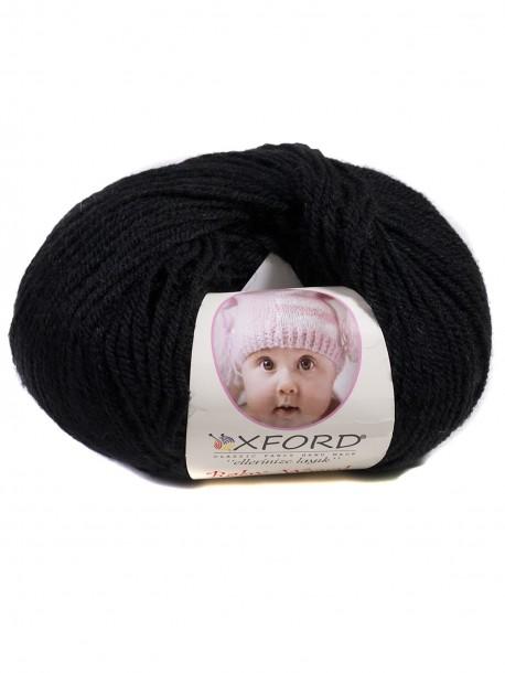 Бебешка прежда с вълна - черна