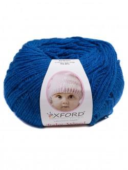 Бебешка прежда с вълна - ярко синьо