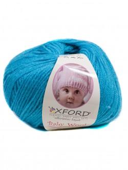 Бебешка прежда с вълна - синя