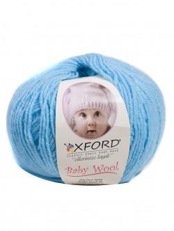 Бебешка прежда с вълна - светло синя