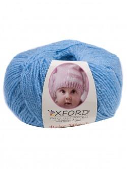 Бебешка прежда с вълна - цвят син