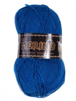Прежда Мерино - ярко синя