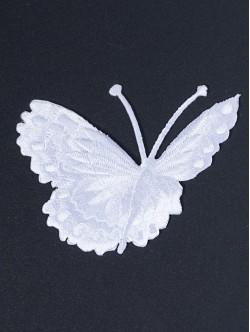 Бяла пеперудка със залепване - дясна