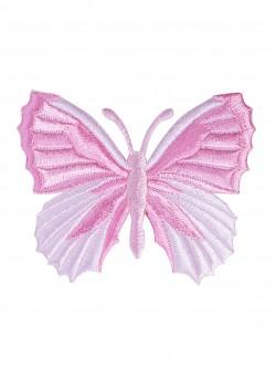 Розова апликация на пеперуда - залепване