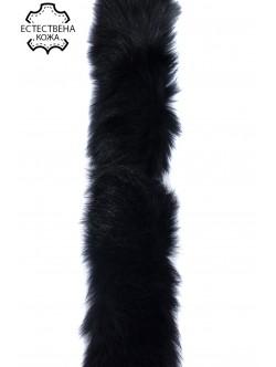 Естествена кожа за качулки - черна