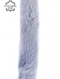 Естествена кожа за качулки - светло синя