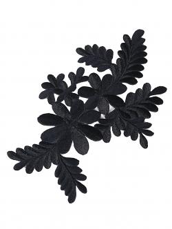 Цвете за залепване в черен цвят 17,5 сантиметра