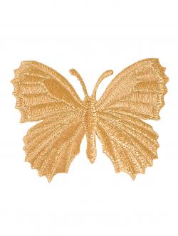 Пеперуда от златисто ламе за залепване 7 см.