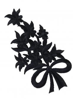 Цвете за залепване в черно 11,5 сантиметра