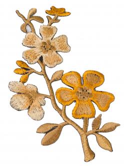 Цвете за залепване старо злато 11 сантиметра