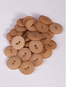 Бежови копчета с две дупки - 15 мм.