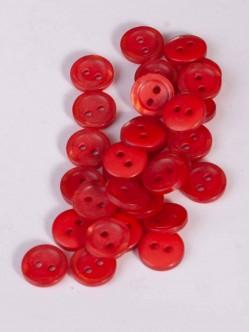 Червени копчета за риза - 10 мм.