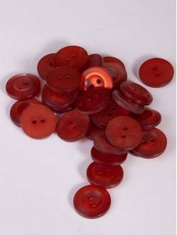 Червени копчета 15 мм.