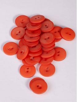 Оранжеви копчета с две дупки 15 мм.