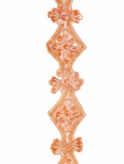 Оранжев ширит за декорация с пайети