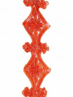 Ширит за декорация с оранжеви пайети