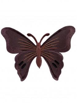 Голяма пеперуда за залепване в кафяв цвят