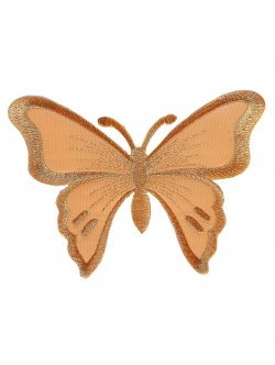 Голяма пеперуда за залепване в златист цвят