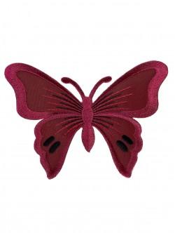 Голяма пеперуда за залепване в червен цвят