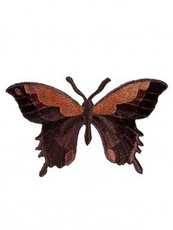 Бродерия на пеперуда в кафяв цвят