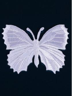 Бродерия на пеперуда в бял цвят