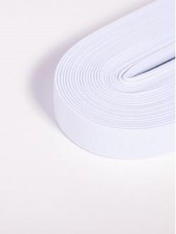 Бял плосък ластик 1 сантиметър