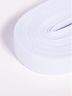 Бял плосък ластик 2 сантиметра