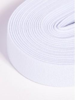 Бял плосък ластик 2,5 сантиметра