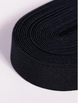 Черен плосък ластик 3 сантиметра