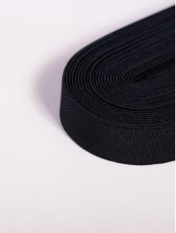 Черен плосък ластик 1,5 сантиметра