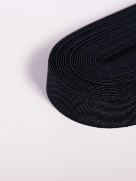 Черен плосък ластик 1 сантиметър