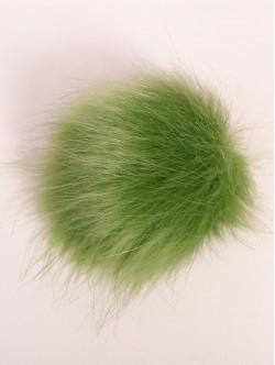 Светло зелен помпон за шапка