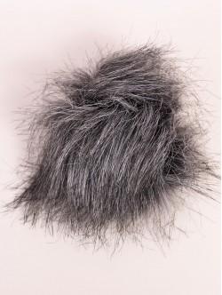 Помпон за шапка сиво и черно