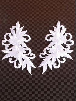 Комплект бели цветя за залепване