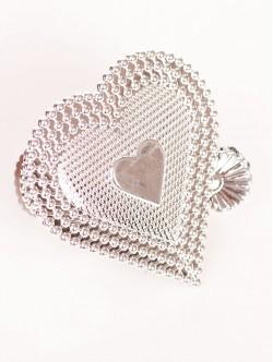 Щипка за перде Сърце - сребро