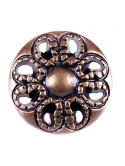 Кафяво копче метална имитация