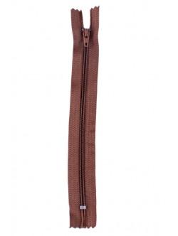 Кафяв цип за панталон 18 см.
